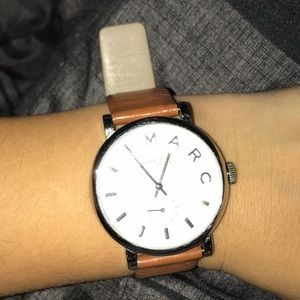 Marc Jacobs Baker Leather Watch